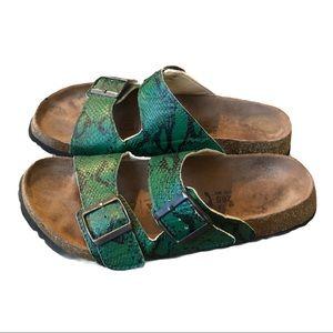 Birkenstock's Betula snakeskin print sandals 10